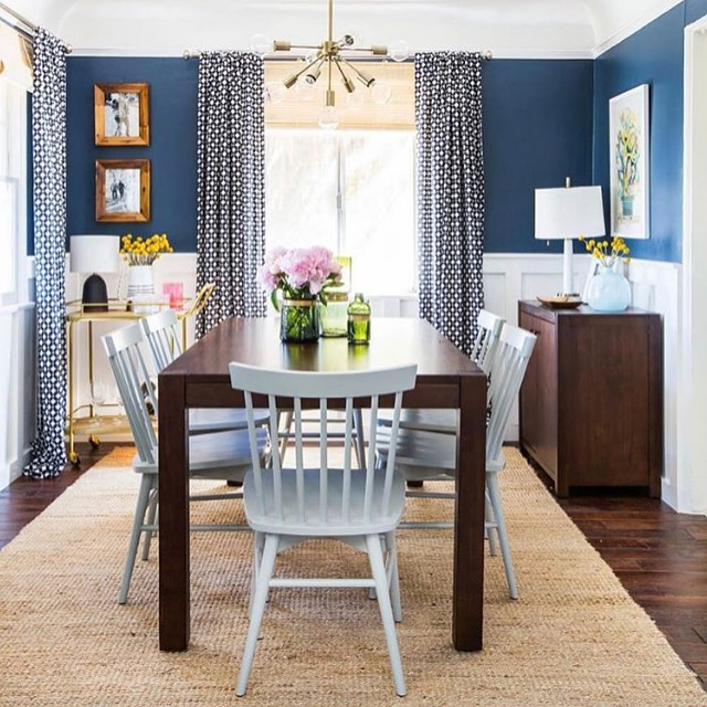 Dinning room goals The blue paint looks so close tohellip