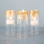 DIY Glittered Tealights