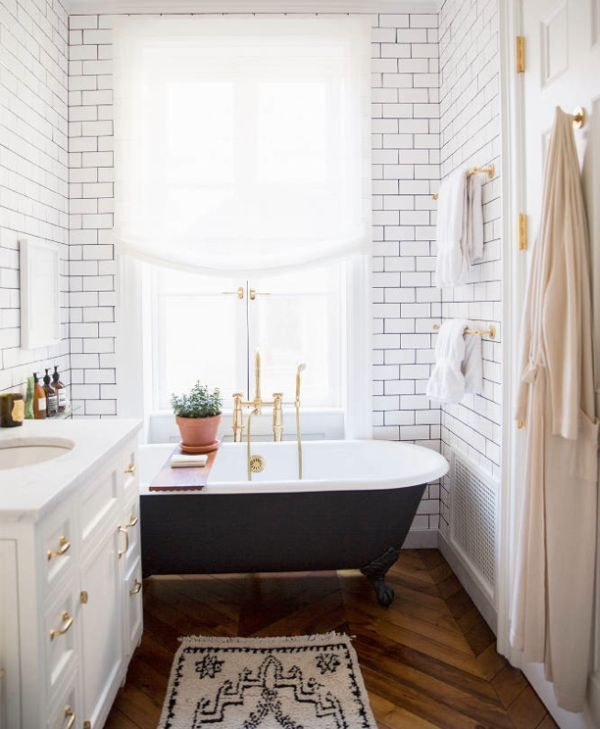 Subway Tile West Village Townhouse NYC Interiors Design