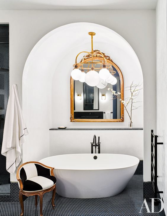 White Tub Celebrity Home Arch Digest