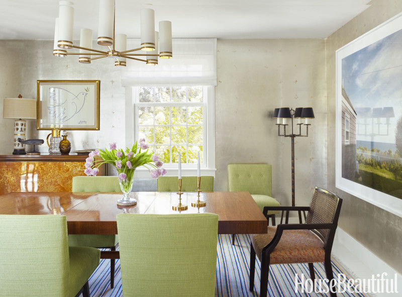 A colorful nantucket beach house lauren nelson for New england dining room ideas