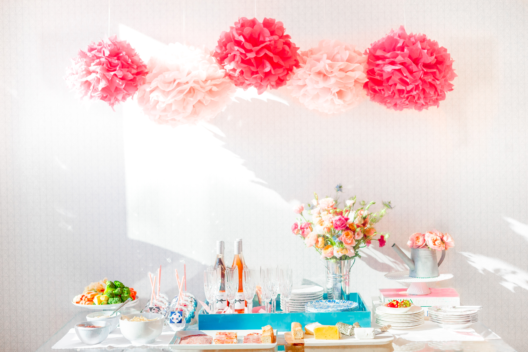 Party Ideas Flower Crown Party Table Setting