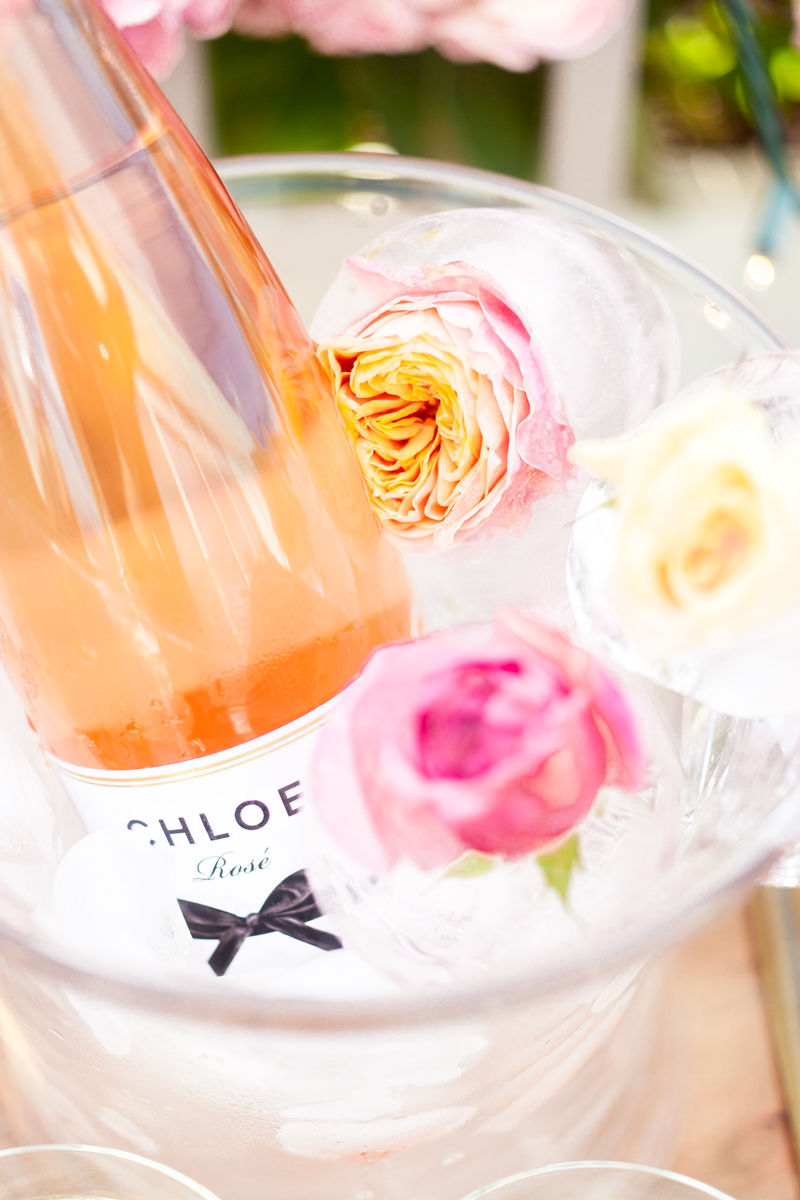 Chloe Wine Rose All Day Flower Ice Cubes DIY