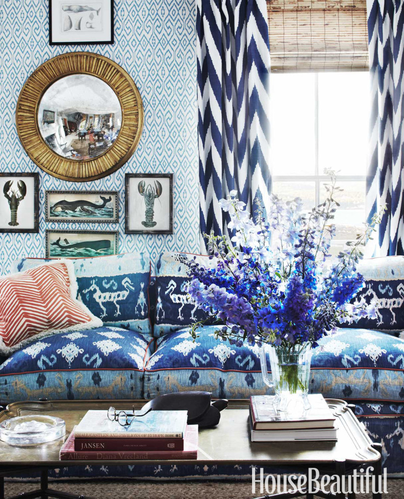 Lobster-Prints-Blue-And-White-Chevron-Curtains