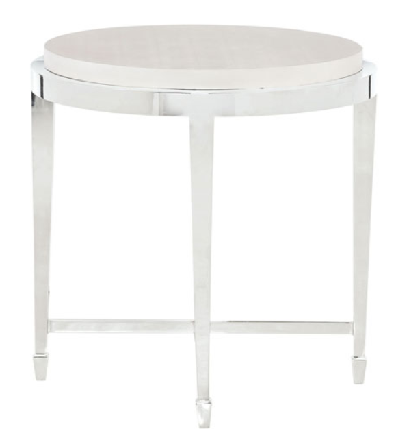 White-Silver-End-Table