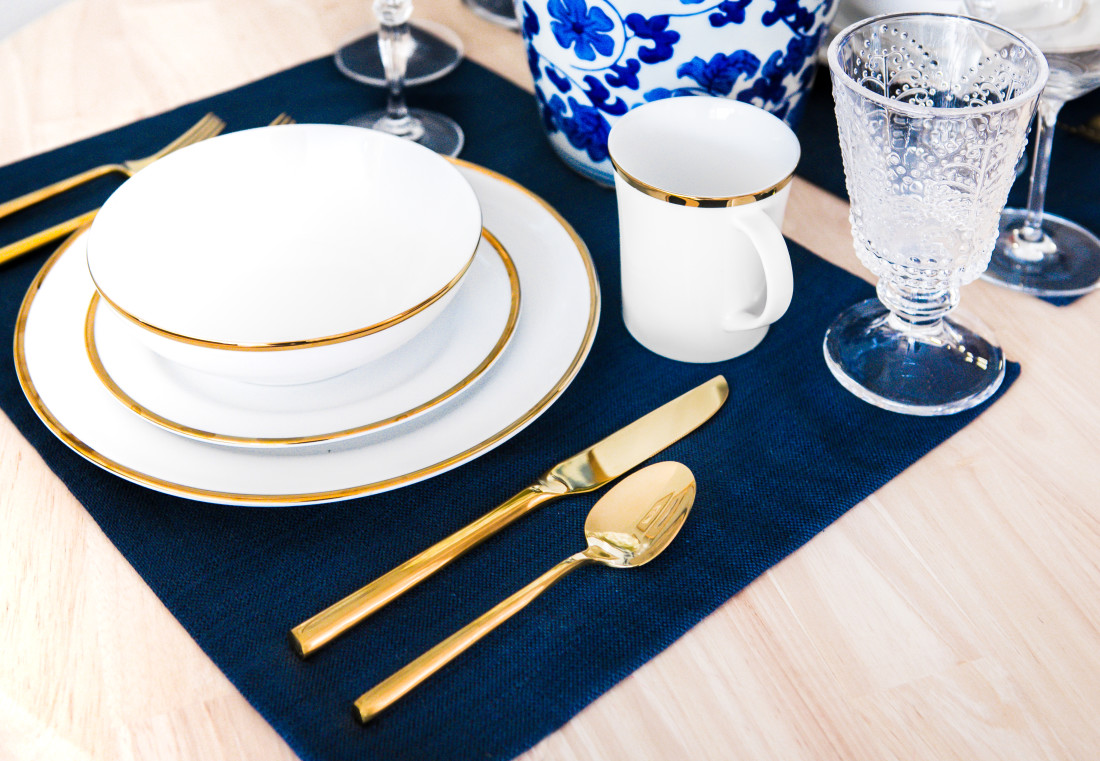 Pier-1-Gold-Rimmed-Dish-Set-Gold-Flatware