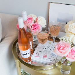 How To Style A Bar Cart With Chloe Wine Collection