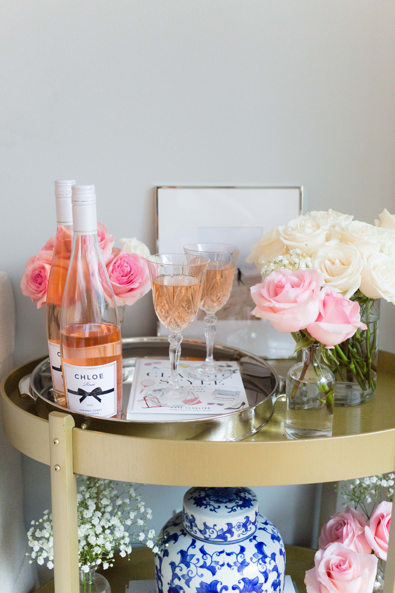 How-To-Style-A-Gold-Bar-Cart-Rose