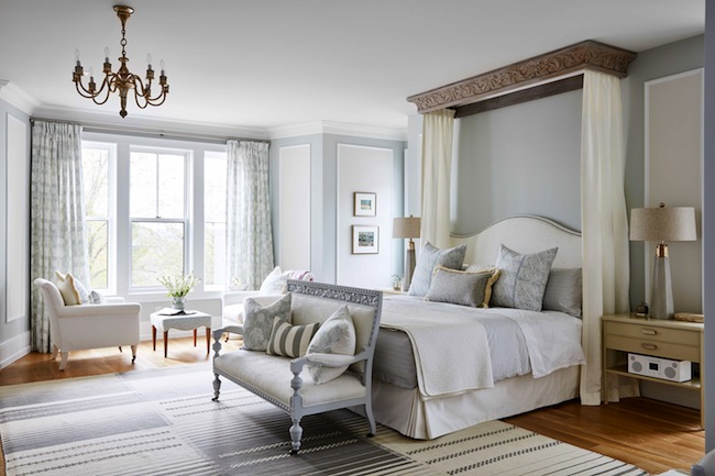 Master-Bedroom-Grey-Walls-White-Bedding