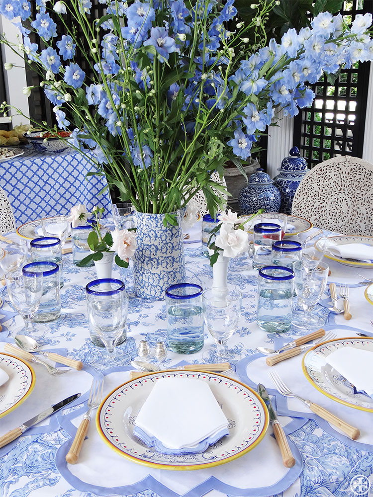 Currently Collecting: Blue and White Table Linens - Lauren ...