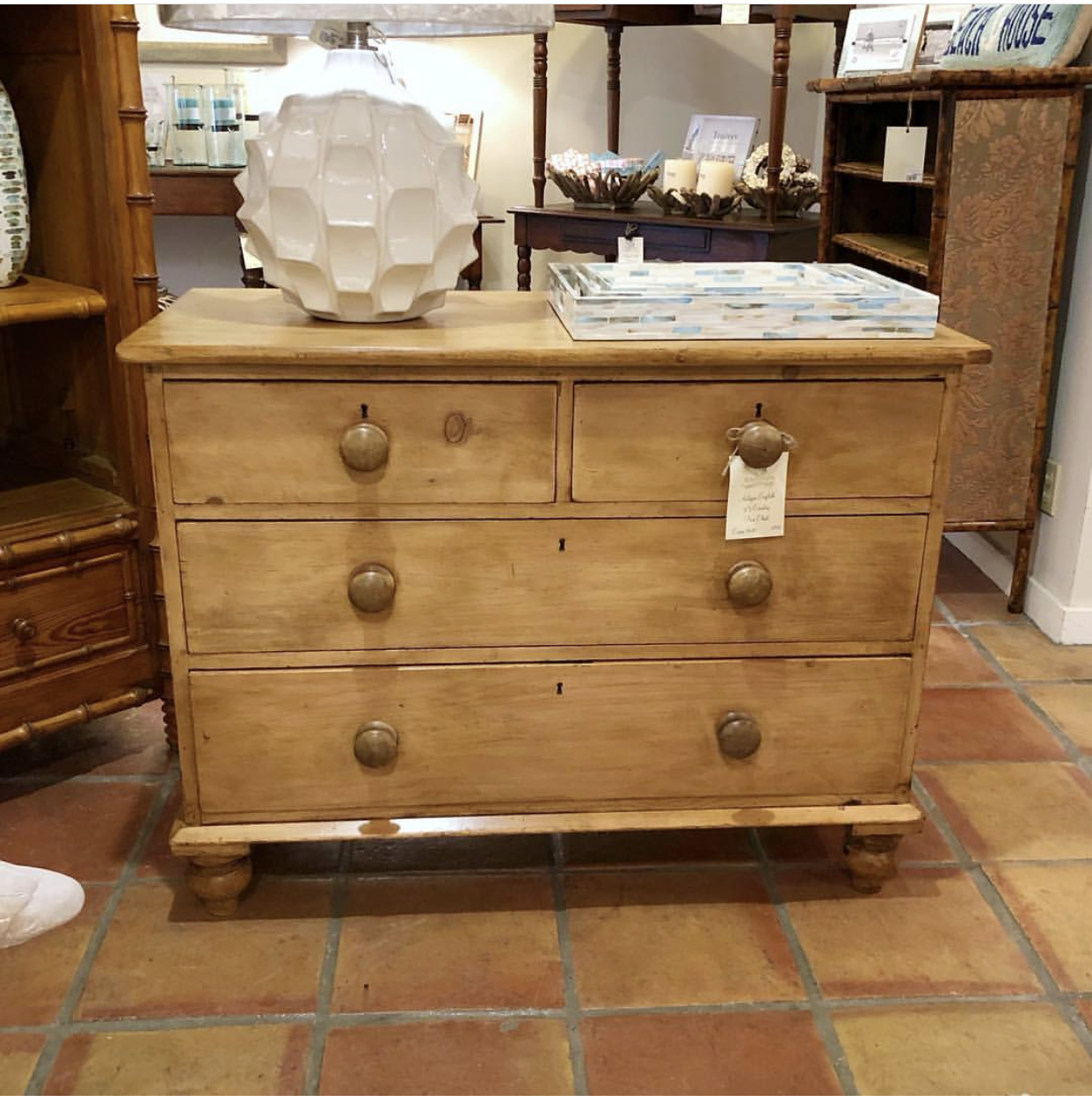 Picture of: English Pine Chest Antique Lauren Nelson