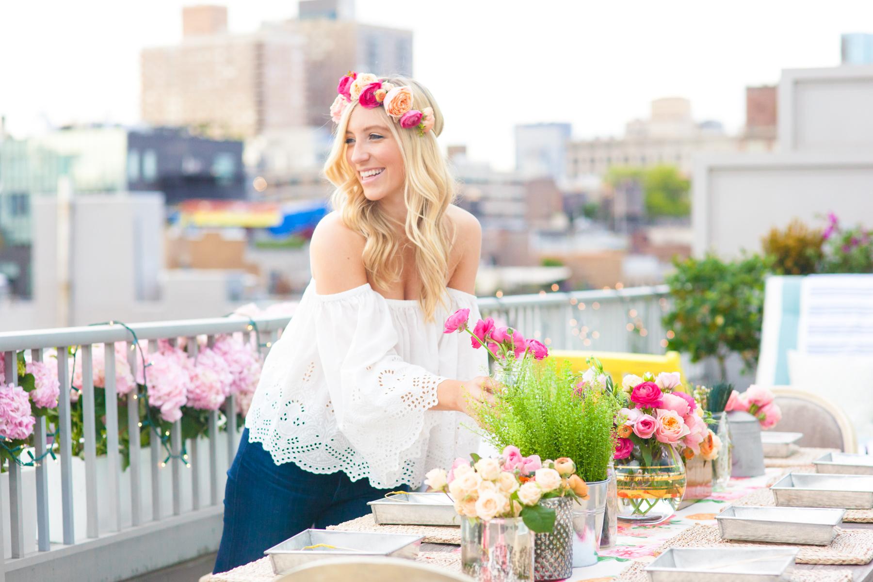 Lauren Nelson Flower Crown Party Ideas