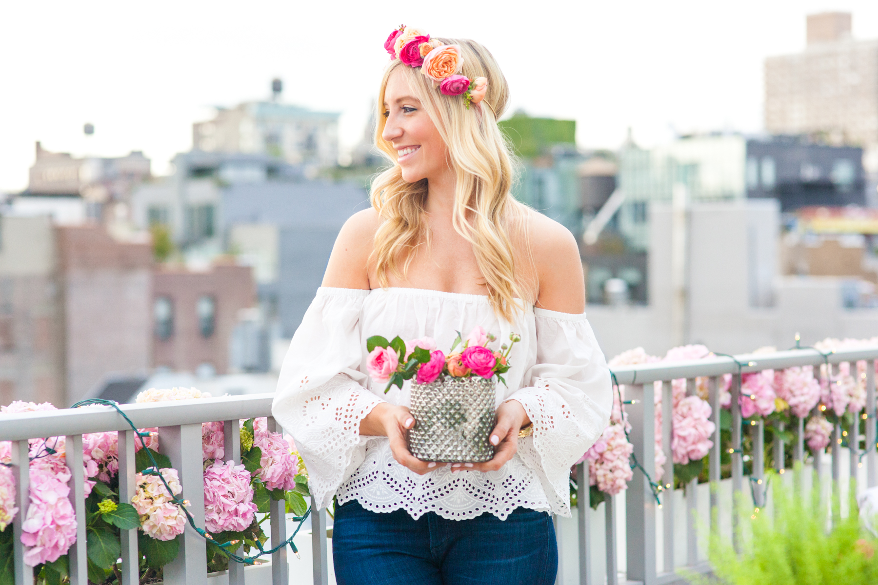 Lauren Nelson Flower Crown How To Throw A Party