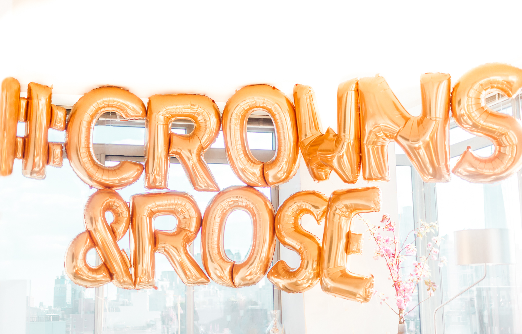 Gold Balloons Party Ideas Rose Hashtag Flower Crown Party