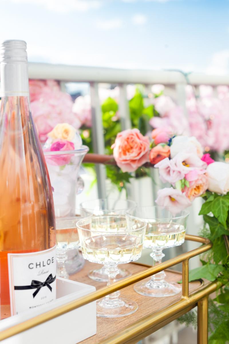 Target Bar Cart Champagne Chloe Wine Rose